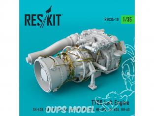 ResKit Kit RSU35-0010 Moteur gauche T700 (SH-60B, SH-60F, HH-60H, MH-60R, MH-60S, MH-60L, UH-60A, HH-60) 1/35