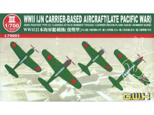 Great Wall Hobby maquette avion L70003 Avions Japonais embarqués WWII IJN Fin guerre Pacifique 1/700