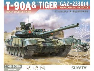 "Suyata maquette militaire 002 T-90A & ""Tiger"" Gaz-233014 1/48"