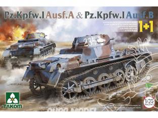 Takom maquette militaire 2145 Pz.Kpfw.I Ausf.A & Pz.Kpf.I Ausf.B 1/35