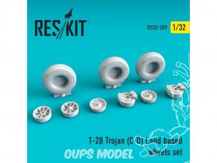 ResKit kit d'amelioration avion RS32-0209 Ensemble de roues pour T-28 Trojan (C-D) Land based 1/32