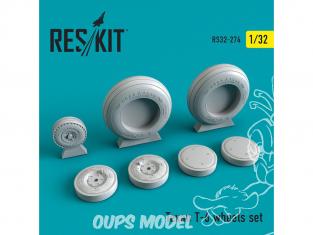 ResKit kit d'amelioration avion RS32-0274 Ensemble de roues pour Texan T-6 1/32
