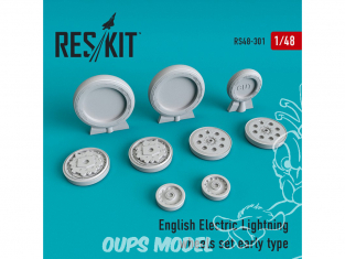 ResKit kit d'amelioration Avion RS48-0301 English Electric Lightning premier type de roue 1/48