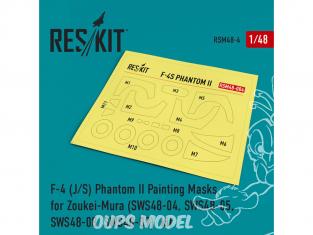 ResKit kit d'amelioration Avion RSM48-0004 Masques de peinture F-4 (J/S) Phantom II pour Zoukei-Mura 1/48
