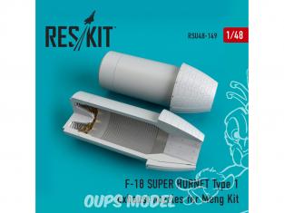 ResKit kit d'amelioration Avion RSU48-0149 Tuyère F-18 Super Hornet Type 1 pour kit Meng 1/48