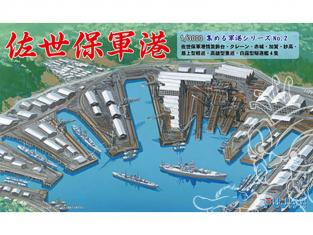 Fujimi maquette bateau 401300 Port naval Sasebo 1/3000