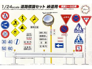 Fujimi maquette voiture camions 116341 Ensemble de panneaux de signalisation 1/24