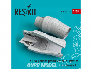 ResKit kit d'amelioration Avion RSU48-0131 Tuyère position de stationnement Su-57 pour kit Zvezda 1/48