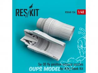 ResKit kit d'amelioration Avion RSU48-0134 Tuyère Su-30 position de VOL pour kit Kitty Hawk 1/48