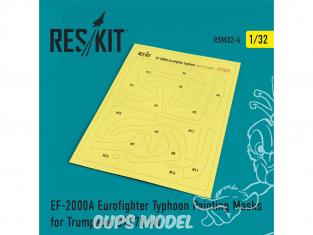 ResKit kit d'amelioration avion RSM32-0004 Masques de peinture EF-2000A Eurofighter Typhoon pour Trumpeter 1/32