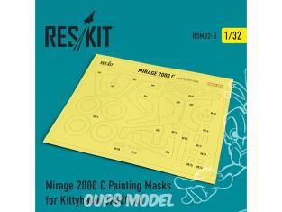 ResKit kit d'amelioration avion RSM32-0005 Masques de peinture Mirage 2000 C pour Kittyhawk 32020 1/32