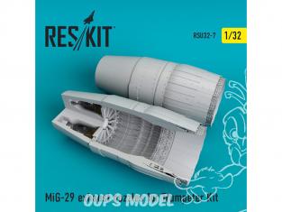 ResKit kit d'amelioration avion RSU32-0007 Tuyère MiG-29 pour Trumpeter Kit 1/32