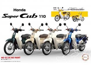 Fujimi maquette moto 141879 Honda Super Cub 110 (Pearl flash yellow) 1/12