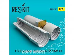 ResKit kit d'amelioration avion RSU32-0012 Tuyère pour F-5E / RF-5E kit KITTY HAWK 1/32