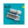 ResKit kit d'amelioration avion RSU32-0008 Tuyère pour F-18 (E/G) SUPER HORNET Type1 Kit Trumpeter 1/32