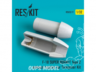 ResKit kit d'amelioration avion RSU32-0009 Tuyère pour F-18 (E/G) SUPER HORNET Type2 Kit Trumpeter 1/32