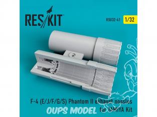 ResKit kit d'amelioration avion RSU32-0041 Tuyère F-4 (E/J/F/G/S) Phantom II pour Kit TAMIYA 1/32