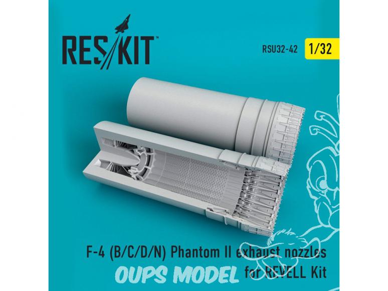 ResKit kit d'amelioration avion RSU32-0042 Tuyère F-4 (B/C/D/N) Phantom pour REVELL 1/32