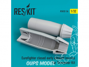 ResKit kit d'amelioration avion RSU32-0036 Tuyère fermée Eurofighter (early type) pour Trumpeter 1/32