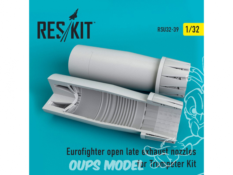 ResKit kit d'amelioration avion RSU32-0039 Tuyère ouverte Eurofighter (late type) pour Trumpeter 1/32