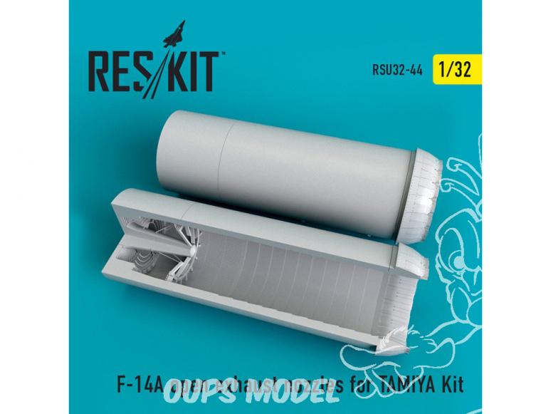 ResKit kit d'amelioration avion RSU32-0044 Tuyère F-14A Tomcat ouverte pour Kit TAMIYA 1/32