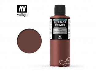 Vallejo Surface Primer 74.605 Appret acrylique Polyuréthane Rouge brun Allemand RAL8012 200ml