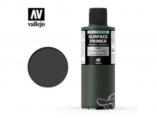 Vallejo Surface Primer 74.607 Appret acrylique Polyuréthane Vert Bronze UK 200ml