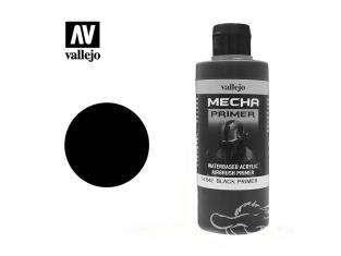 Vallejo Peinture Acrylique Couleurs Mechas 74.642 Mecha Surface Primer Noir (200ml)