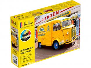 Heller maquette voiture Starter Set 56744 CITROEN Type H 2 decorations 1/24