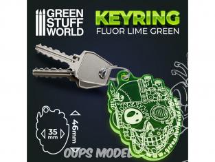 Green Stuff 503417 Porte-clés GREEN SKULL