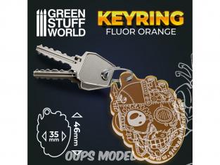 Green Stuff 503448 Porte-clés ORANGE SKULL