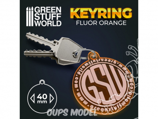 Green Stuff 503431 Porte-clés ROND ORANGE