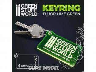 Green Stuff 503394 Porte-clés Rectangle VERT