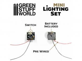 Green Stuff 502076 Mini kit d'éclairage avec interrupteur et pile CR927