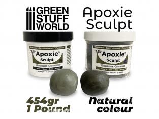 Green Stuff 502403 APOXIE SCULPT 1Lb Mastic Naturel