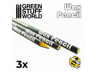 Green Stuff 500775 Crayon de Cire Collante x3