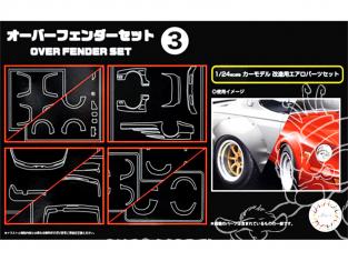 fujimi maquette accessoire voiture 116402 Set d'extention d'ailes 3 1/24