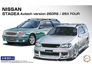Fujimi maquette voiture 46136 Nissan Stagea Autech version 260RS / 25X Four 1/24