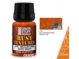 Green Stuff 501383 Textures de rouille MEDIUM OXIDE RUST 30ml