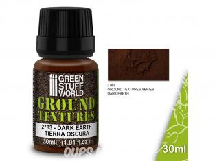Green Stuff 501437 Textures de terre DARK EARTH 30ml
