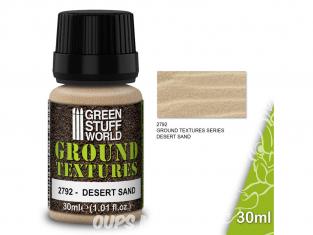 Green Stuff 501529 Textures de sable SABLE DU DÉSERT 30ml