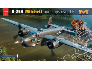 HK Models maquette avion 01E037 B-25H Mitchell Gunships over CBI 1/32
