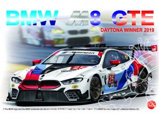 NuNu maquette voiture de Piste PN24010 BMW M8 GTE 2019 DAYTONA WINNER 1/24