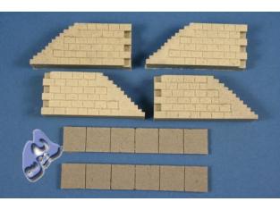 CMK Maquettes Bateau ml80300 ANGLES ET ESCALIERS DE DOCKS 1/72