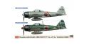 HASEGAWA maquette avion 01973 Combo ZERO SAMURAI A6M2b et A6M5c 1/72
