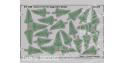 Eduard photodecoupe diorama 73438 feuilles de fougere Kaprad Colour 1/72