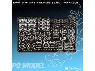 Lion Kit photodécoupe r7074 CANONS ANTI AERIENS (début de guerre) ET 40mm L60( double) BOFORS US NAVY 1/700