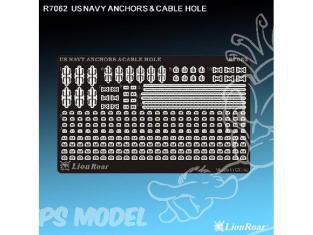 Lion Kit photodécoupe r7062 ANCRES ET CHAUMARDS pour NAVIRES US NAVY 1/700