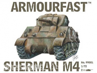 Armourfast maquette militaire 99001 Sherman M4 1/72
