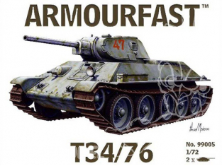 Armourfast maquette militaire 99005 T34/76 1/72